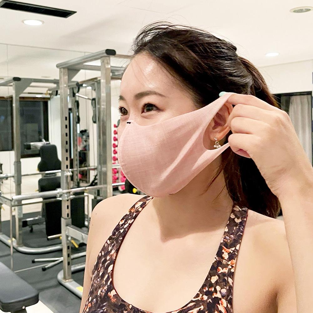 伸縮性が高く、耳が痛くならないマスク